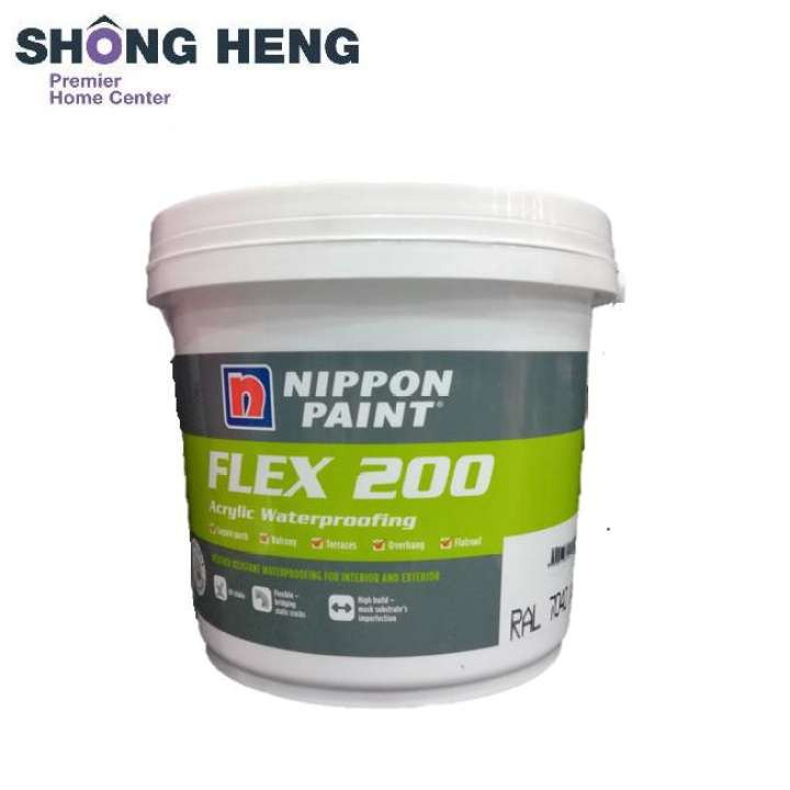 20kg NIPPON PAINT FLEX 200 ARCYLIC WATERPROOFING WHITE / GREY
