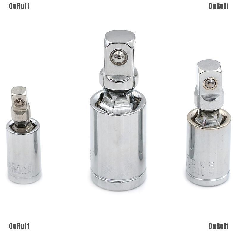 "1//4/"" 3//8/"" 1//2/"" Universal Joint Set Ratchet Angle Extension Bar Socket Adap rf"