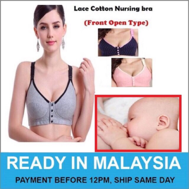 acf76e5be57a6 Women s Full Cup Lightly Lined Plunge Underwire Maternity Nursing Bra A207