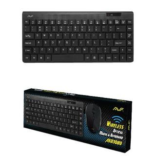 AVF AKM3080 Wireless Mini Slim Keyboard and Optical Mouse