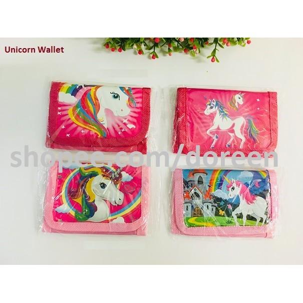 Girls Coin Purse Wallet Unicorn/ Emoji