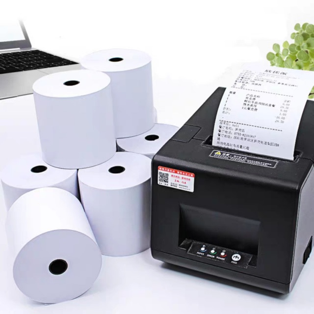 50 rolls thermal paper roll 80mm x 60mm POS printer receipt till roll,for retail shop and supermarket | Shopee Malaysia