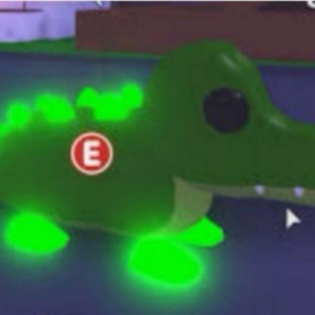 Adopt Me Neon Crocodile Unavailable Not Rideable Shopee Malaysia