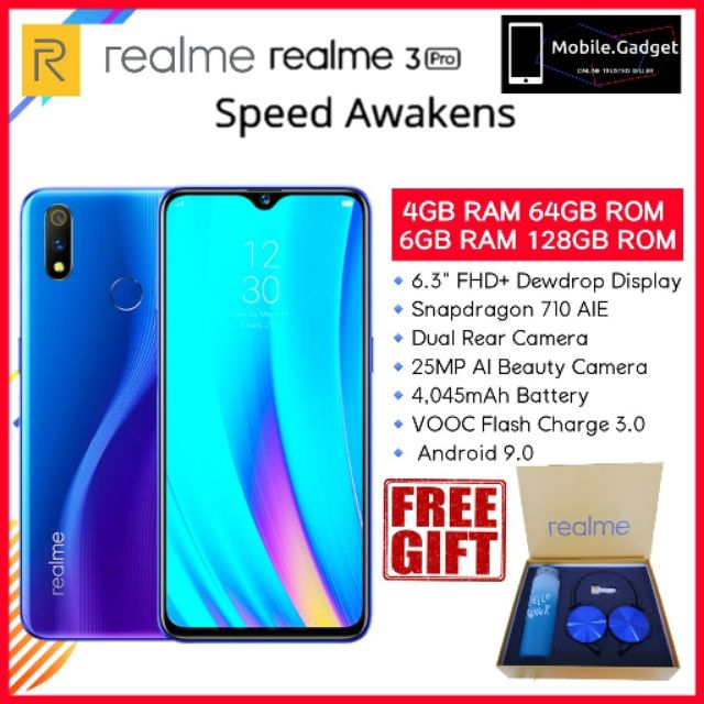 OPPO Realme 3 Pro [4GB RAM+64GB ROM /6GB RAM+128GB ROM] VOOC 3 0 Charger