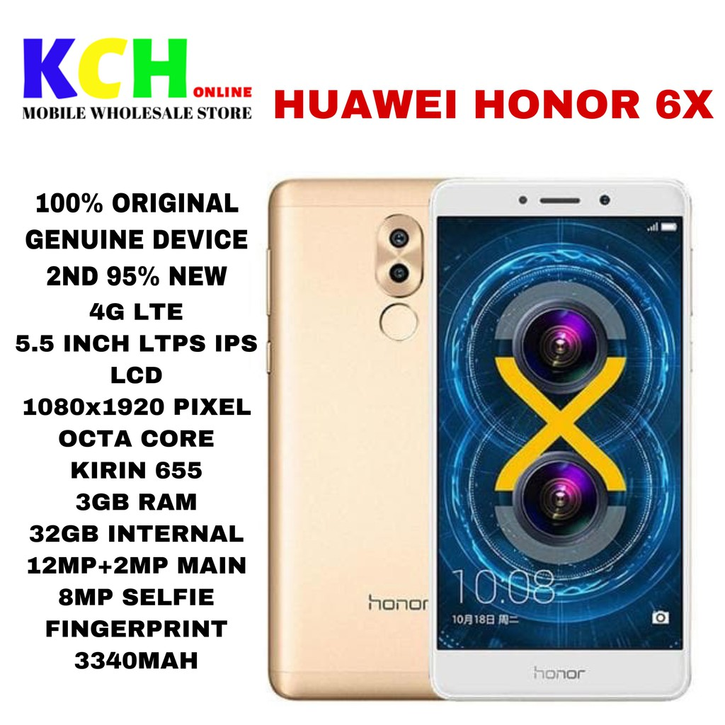 HUAWEI HONOR 6X(3+32GB)(4+64GB)(100% ORIGINAL USED HUAWEI DEVICE)
