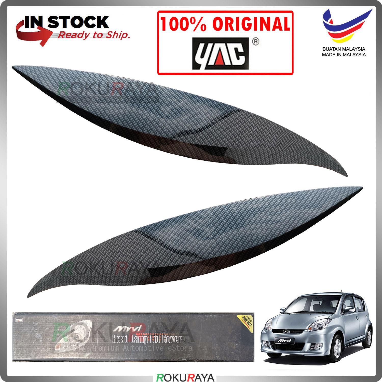 [CARBON] Perodua Myvi Old Custom Fit ABS Plastic Car Head Lamp Eye Lid Brow Cover
