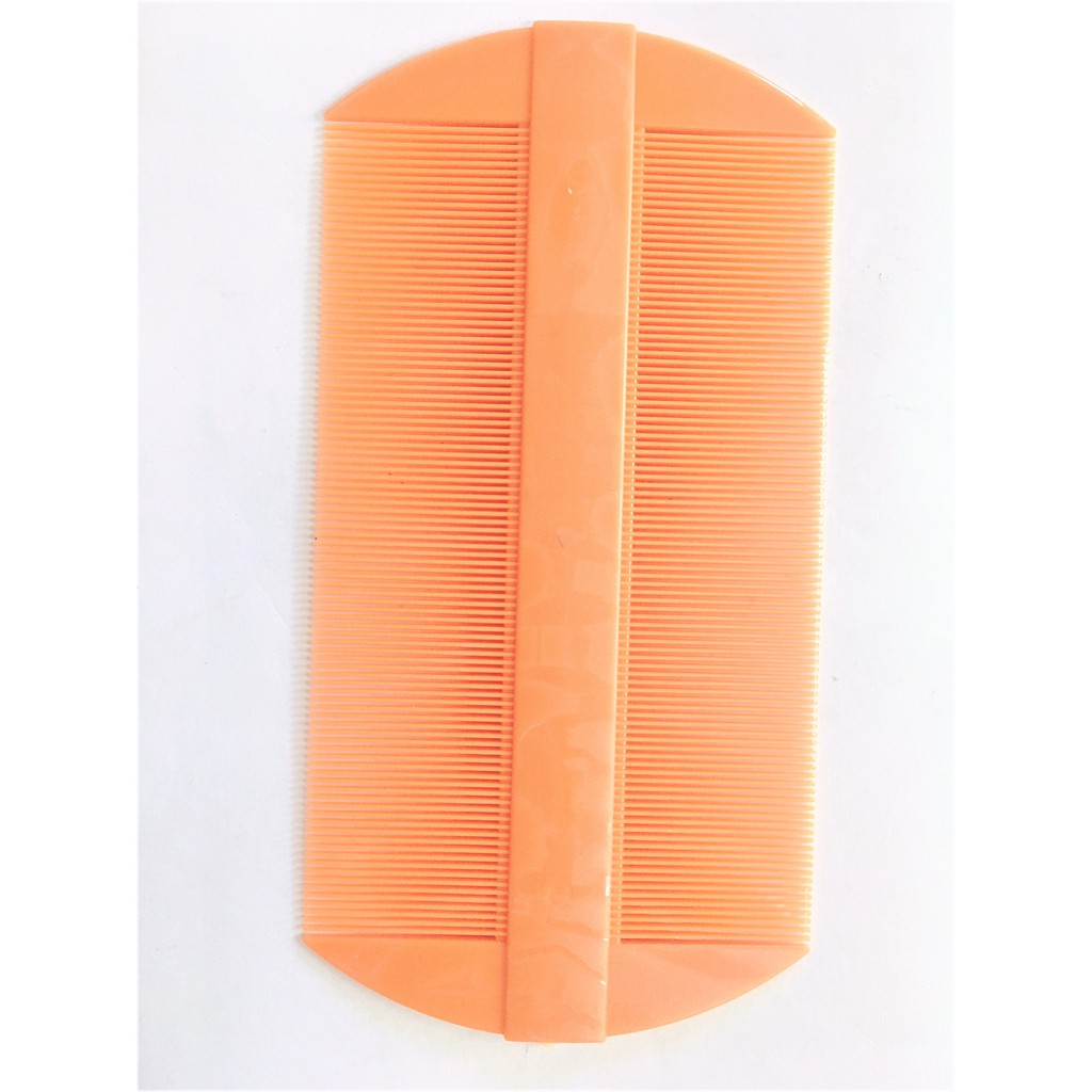 Double Sided Nit Fine Tooth Head Lice Hair Combs Flea Plastic Fine Plastic Double-Sided Comb With Plastic Cover