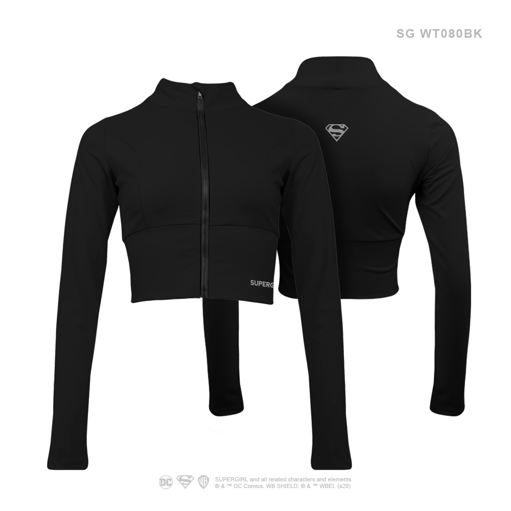 SUPER GIRL Half Body Sports Jacket WT080