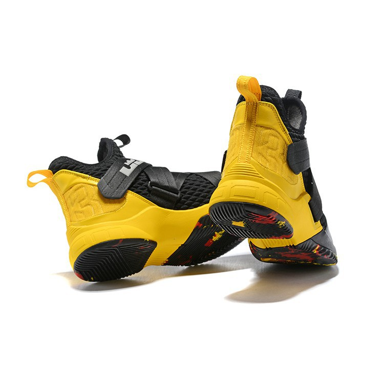 Lebron James Soldier 12 Lbj Nike Basketball Shoes Yellow Black Shopee Malaysia