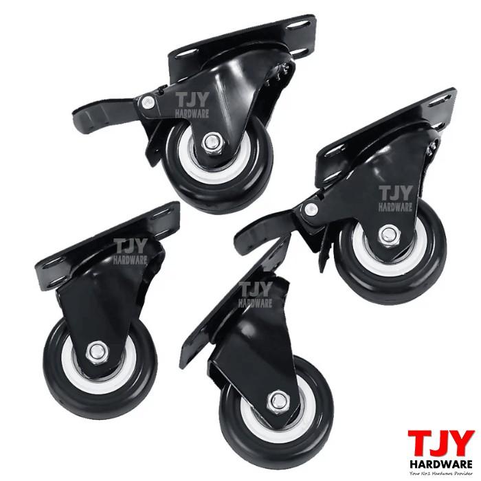 4 Heavy Duty 200kg 50mm PU Swivel Castor Wheels