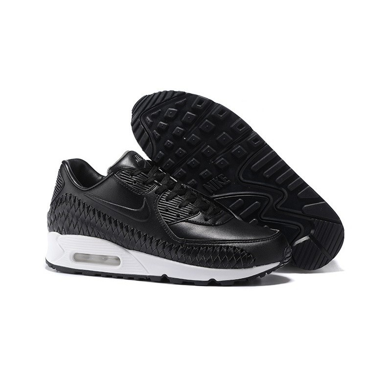 top fashion 2e130 fb342 Mens Nike Air Max 90 Woven Running Shoes Black Black-White 833129-001    Shopee Malaysia
