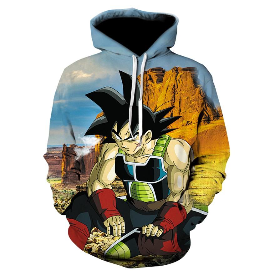 191730107 Japan Anime Dragon Ball Z Super Saiyan Goku Personality Print 3D Hoodie Men