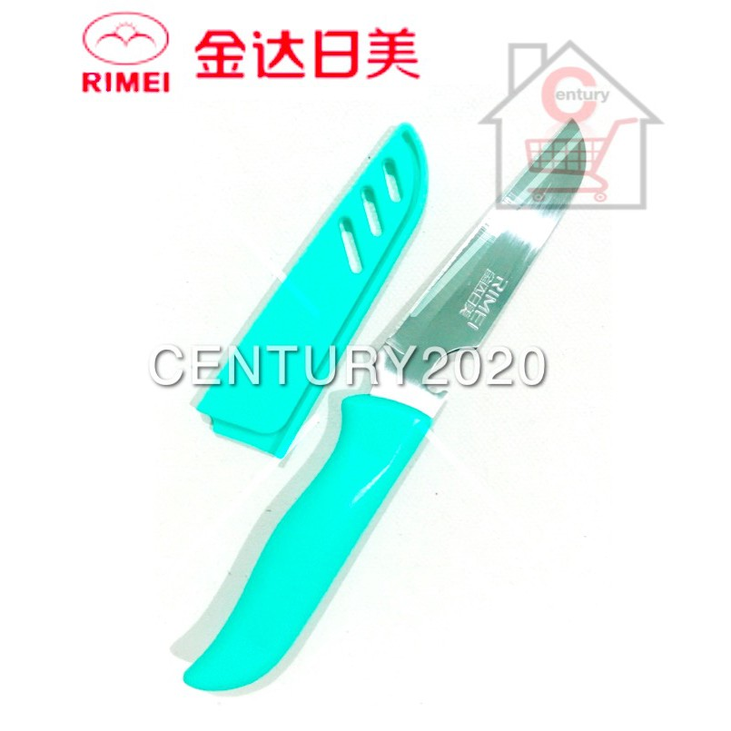 RIMEI Fruit Knife Pairing With Bottle Opener Kitchen Portable Fruit Knife With Cover 5164