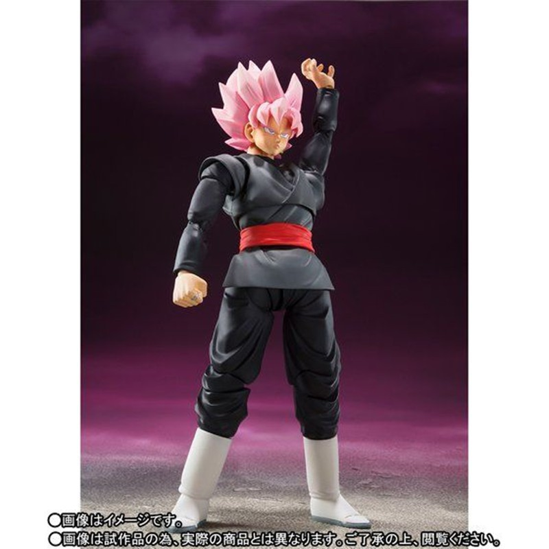 Dragon Ball Z Super Saiyan ROSÉ Zamasu Goku Black SHF Action Figure 14cm