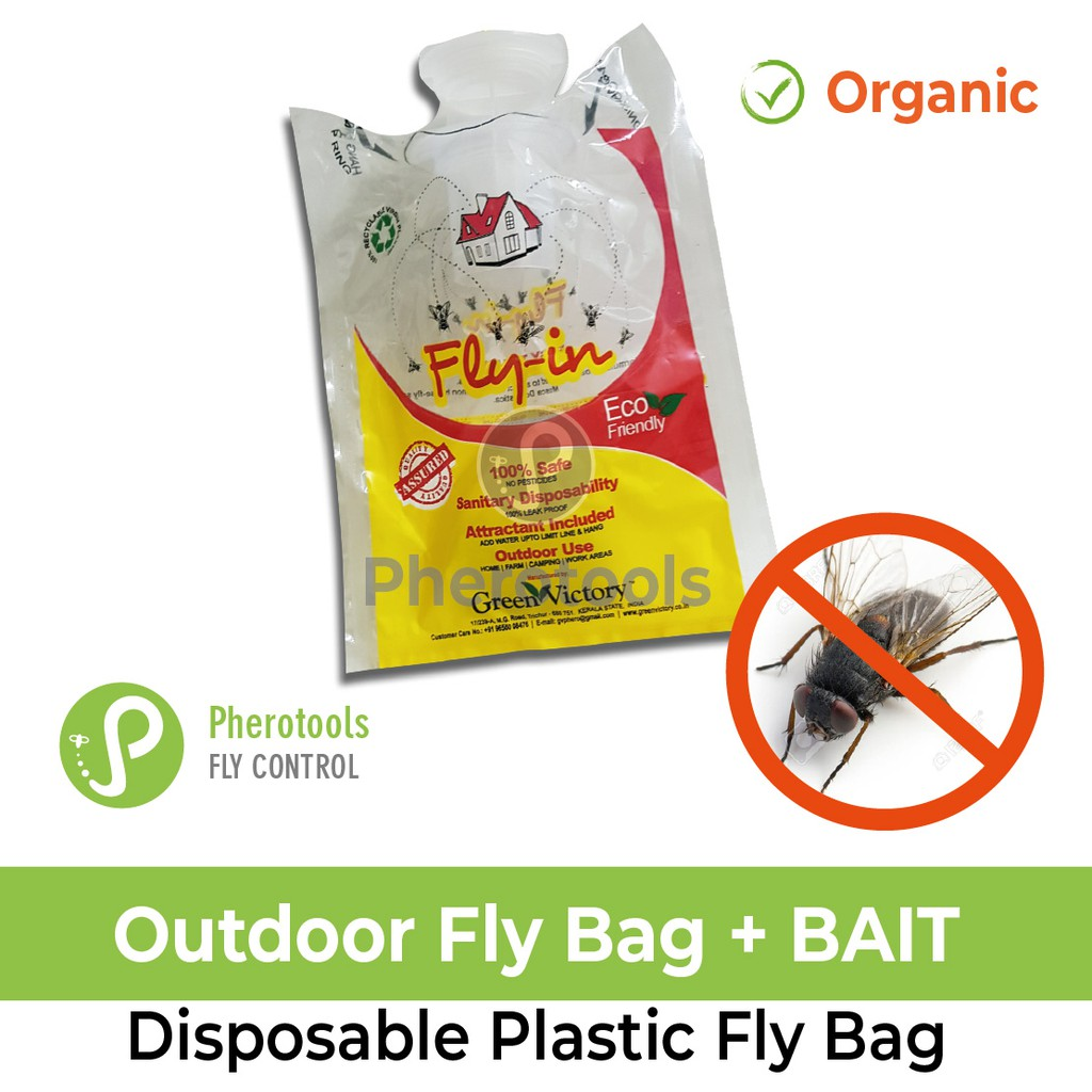 Disposable House Fly Trap with Bait (Fly Trap, DIY Pest Control)