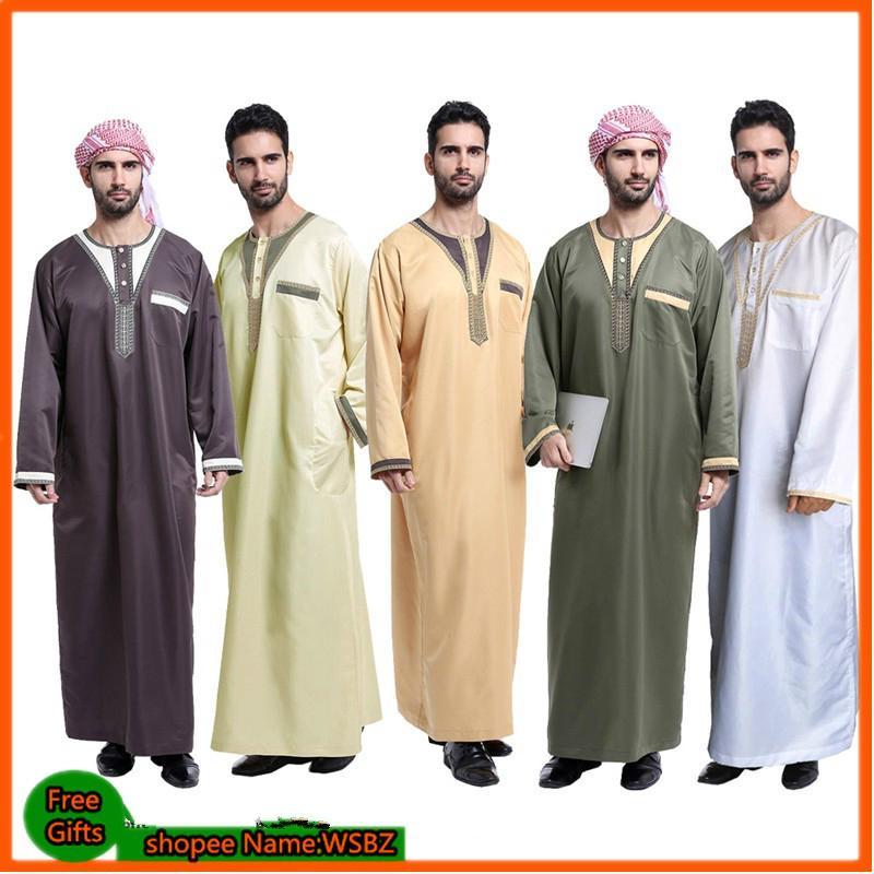3588222ed1 Arab clothing men Cotton thobe male islamic clothing for men muslim caps  Coffee
