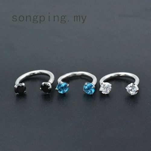 Beauty Belly Ring Horseshoe Bar Lip Nose Septum Ring Stud Accessory