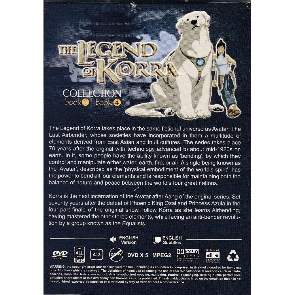 The Legend of Korra Book 1-4 Anime DVD