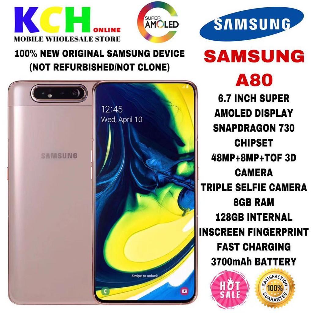 [NEW MODEL 2019] SAMSUNG A80 [8GB RAM+128GB ROM] [1 YEAR SAMSUNG MALAYSIA WARRANTY]