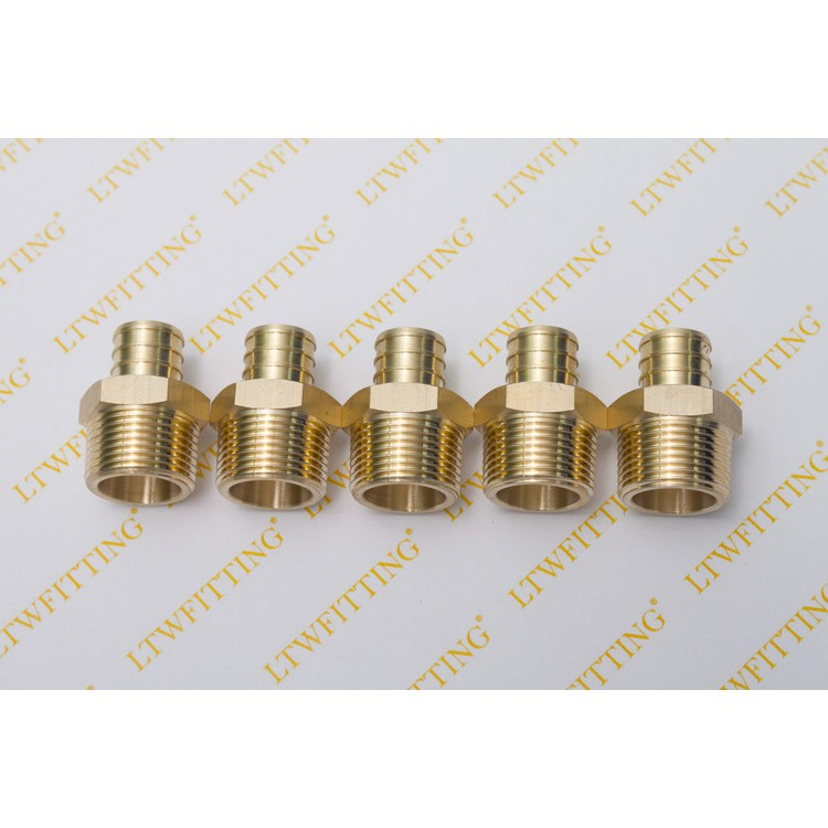 Brass BSPT Male x NPT Male Hex Nipple Pipe Fitting Adapter for Air Water Fuel