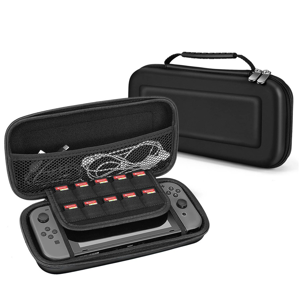 NINTENDO SWITCH HARD CARRYING PROTECTIVE CASE [WITH 10 GAME CARTRIDGE HOLDERS]