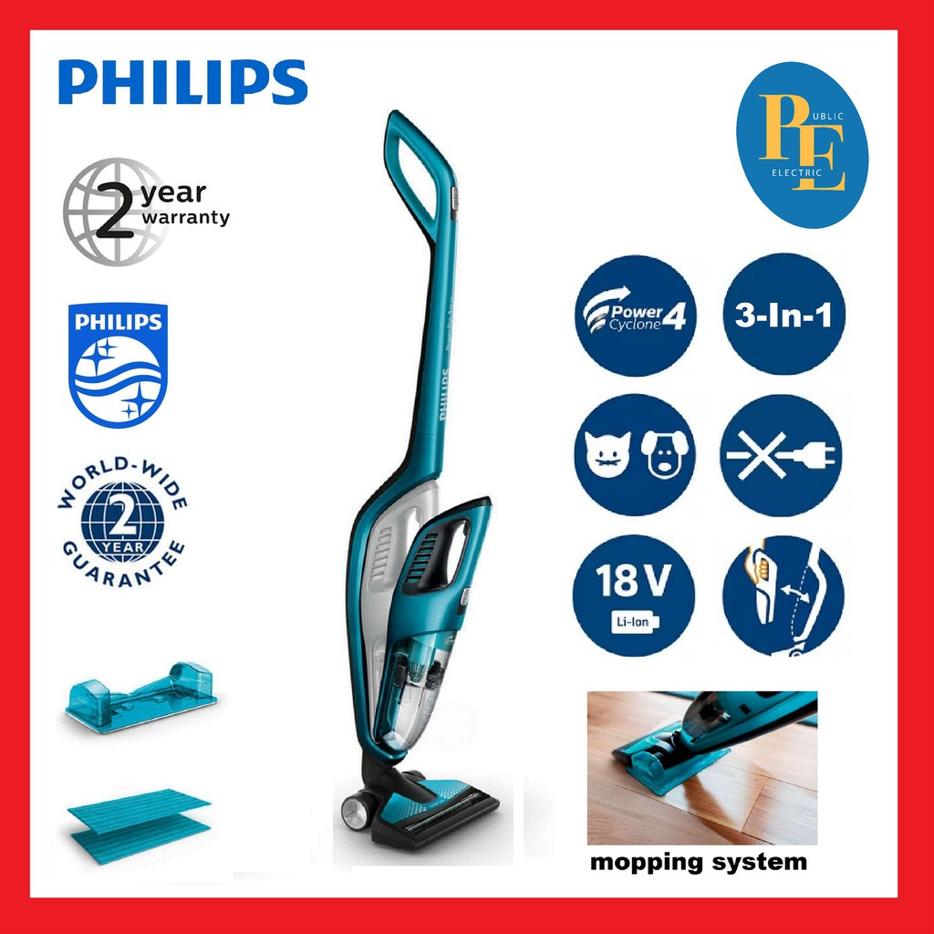 Philips 3-in-1 Mopping System Vacuum Cleaner - FC6404