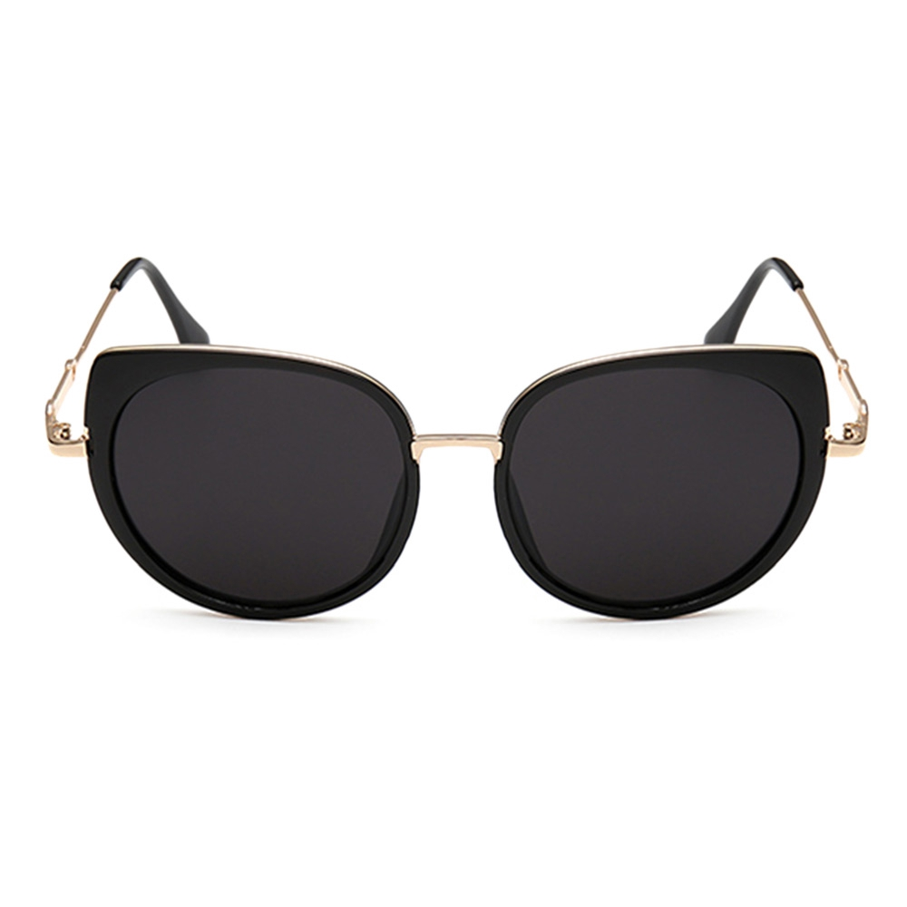 Metal Full Rims Cat Eye Affordable Polarized Sunglasses
