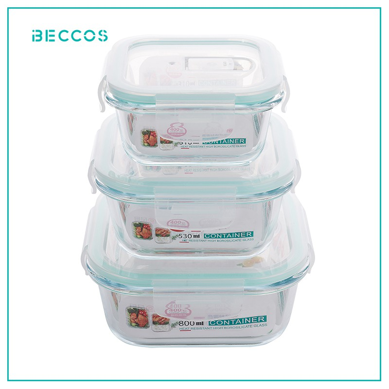 BECCOS Borosilicate Glass Container
