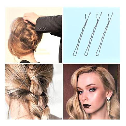 Hair Waved U-shaped Bobby Pin Barrette Salon Grip Clip Hairpins Black Invisible Hair Clip 36Pins A Pack
