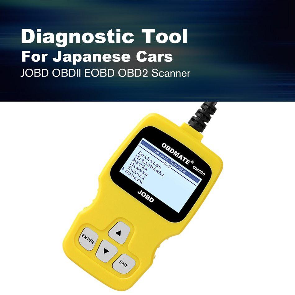 OM500 JOBD OBD2 EOBD Code Reader Auto Car Fault Scanner Diagnostic Tool