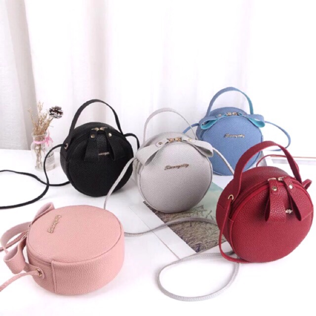 101239c7f9cb Ready Stock Women Sling Bag Round Bag Beg Casual Handbag Tote Bulat Bags