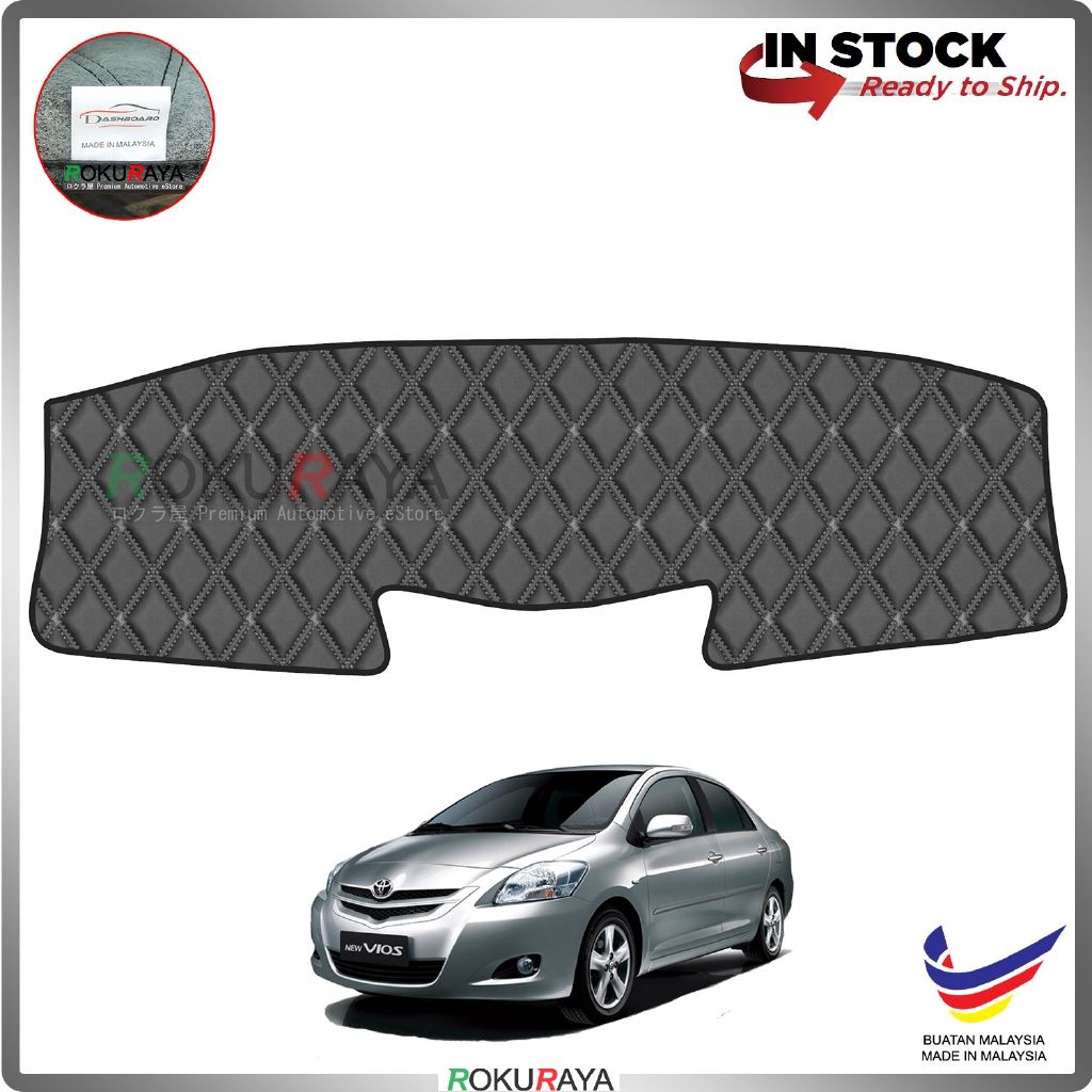 Toyota Vios Dugong NCP93 (2nd Gen) 2007-2013 RR Malaysia Custom Fit Dashboard Cover (BLACK LINE)