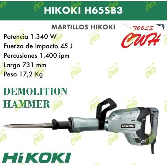 HIKOKI/HITACHI 1340w Demolition Hammer H65SB3----STANLEY DEWALT MILWAUKEE MAKITA BOSCH