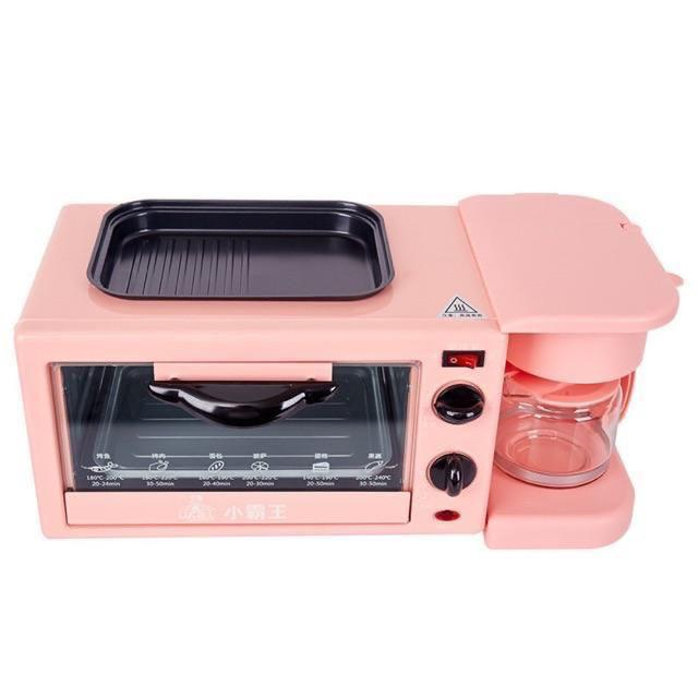 3 IN 1 Family Size Breakfast Center Toaster Oven Electric Frying Pan Griddle Pan Coffee Maker Breakfast Machine