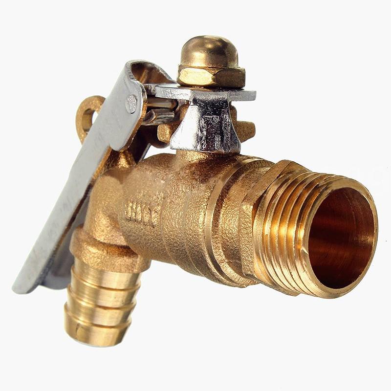 "Outdoor Garden 1//2/"" 2cm Thread Dia Lockable Faucet Locked Brass Water Tap"