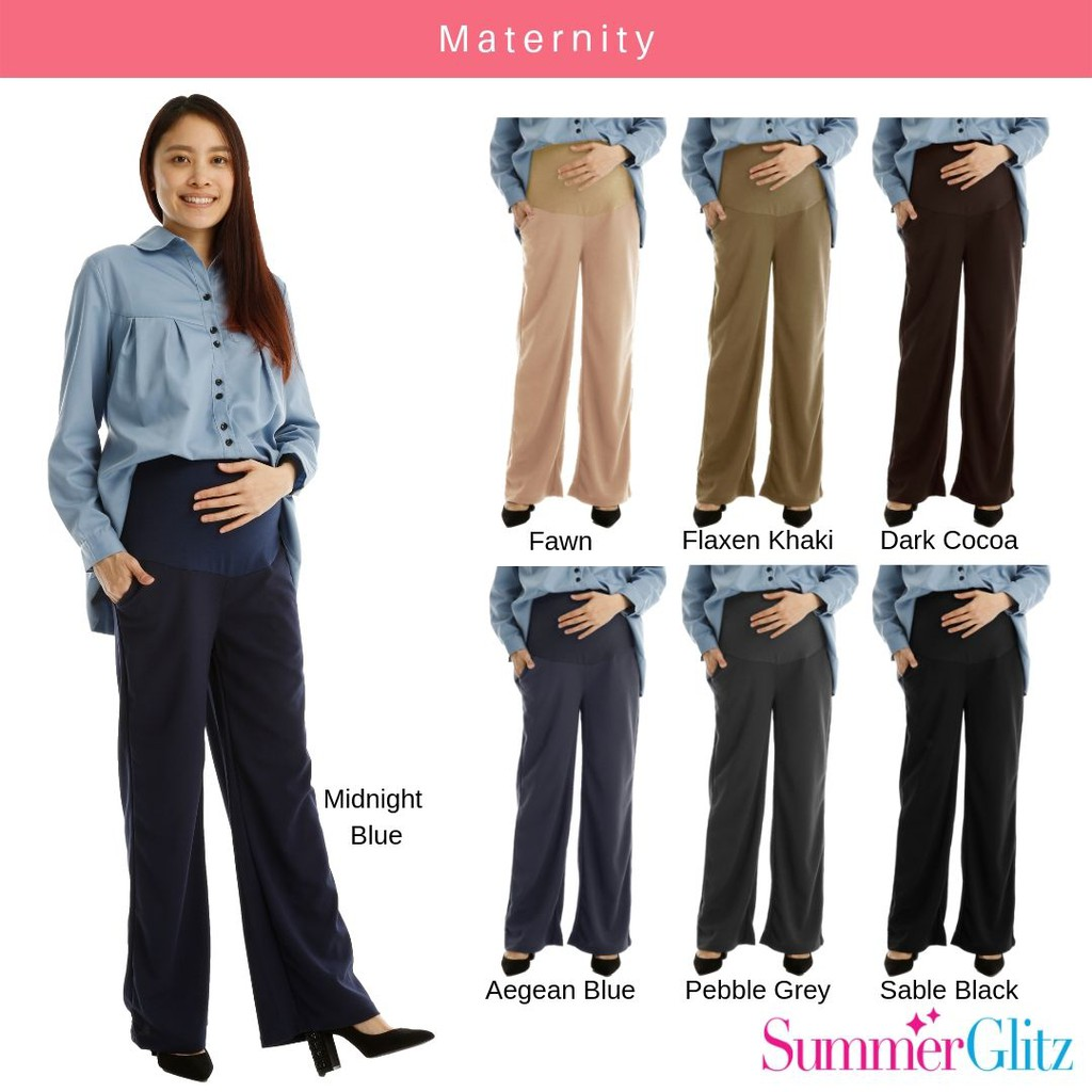 72272f7188efa Pregnant Pants Abdomen Support Leggings Cropped Trousers RK0202 | Shopee  Malaysia