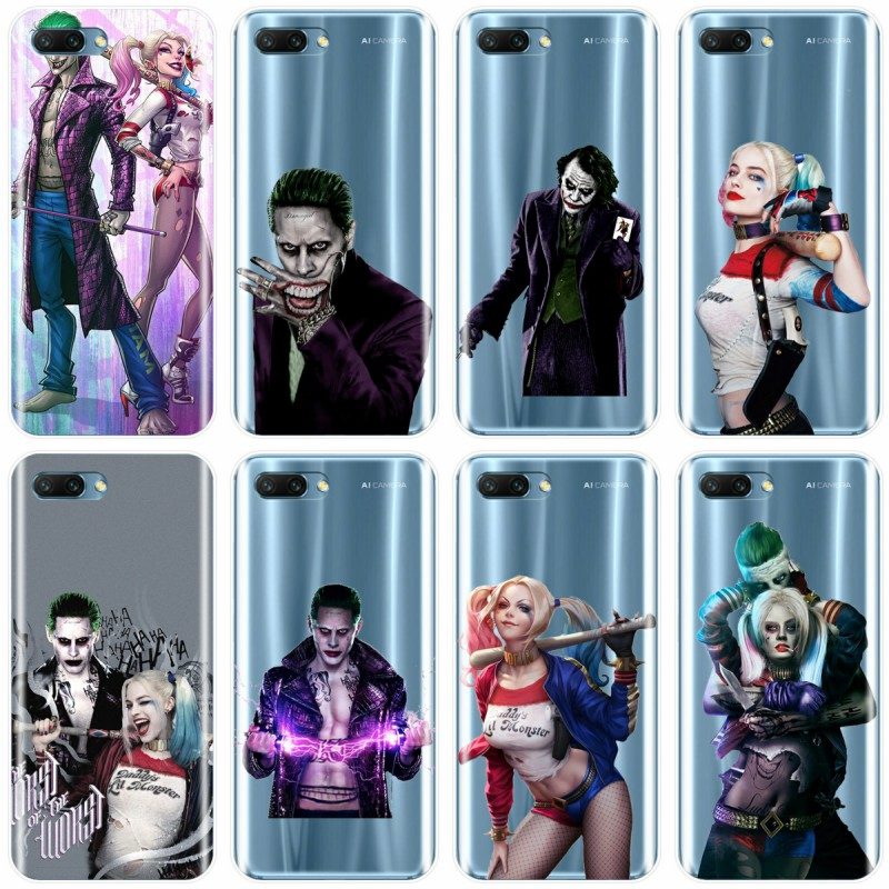 Suicide Squad Joker Harley Quinn Phone Case For Huawei MATE 7 8 9 10 20 pro MATE20 lite Honor 8 9 10 V10 NOTE10 Cover