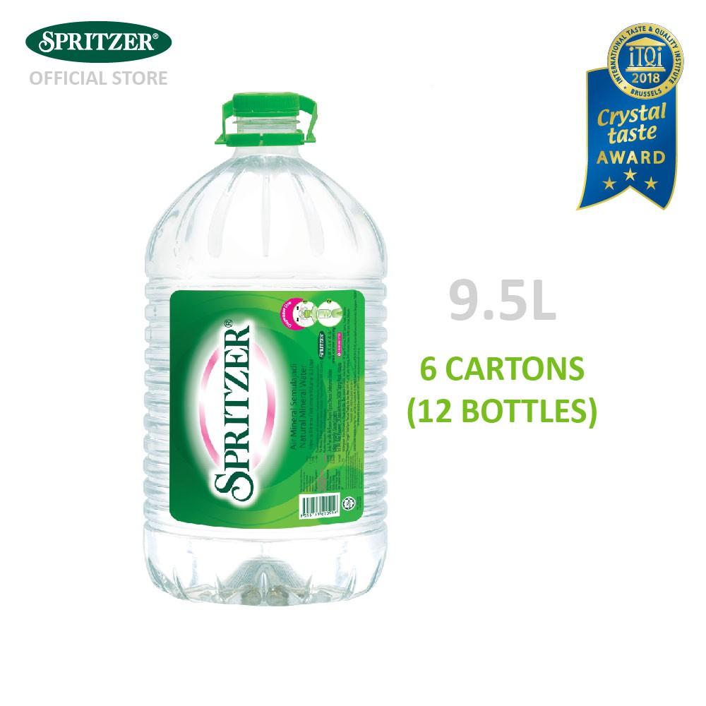 SPRITZER Mineral Water 9 5L x 2 (6 cartons) [Klang Valley Only]