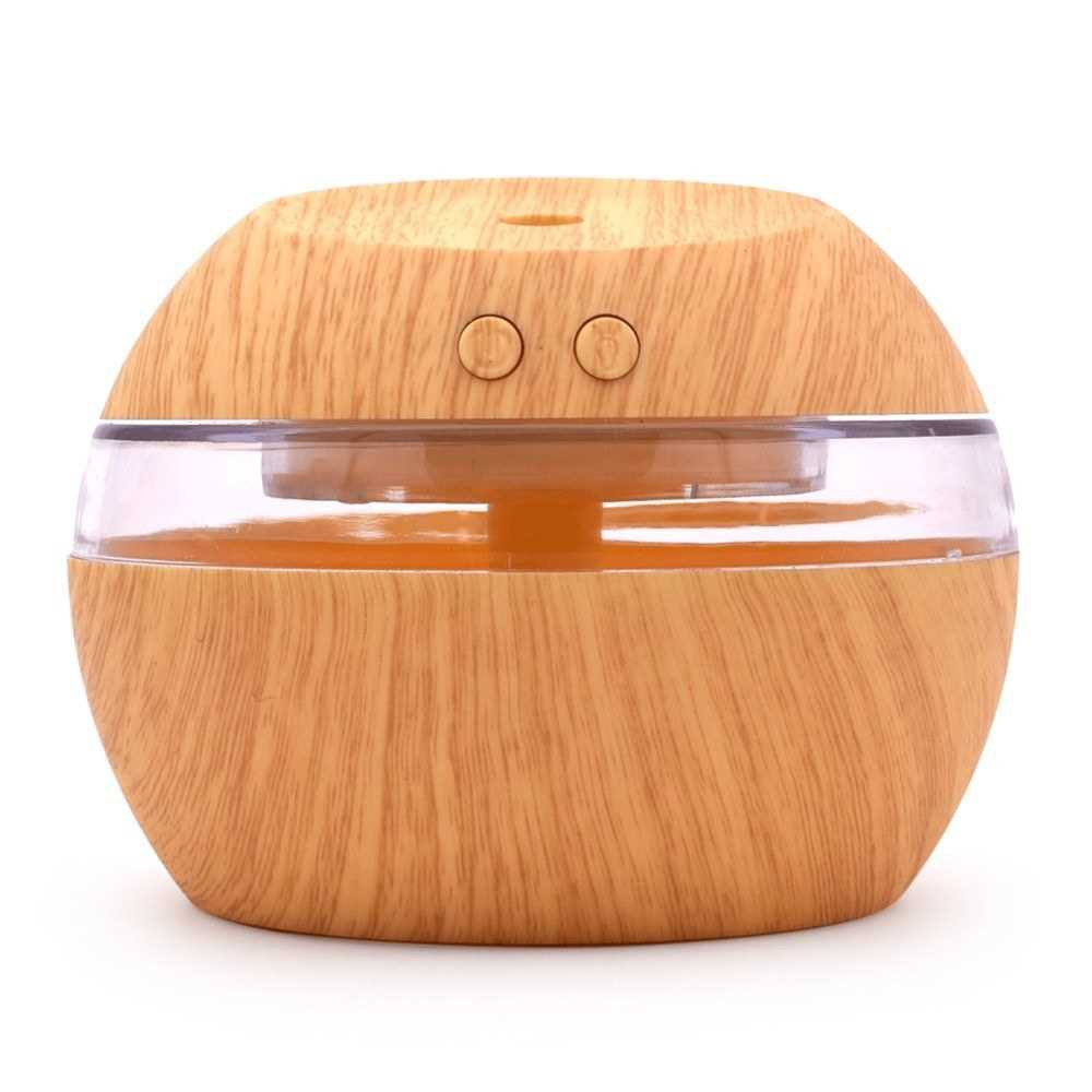 300ml Ultrasound Aroma Diffuser Creative Wood Mini Mute USB Air Humidifier Household Humidifier Bedroom Essential Oil A