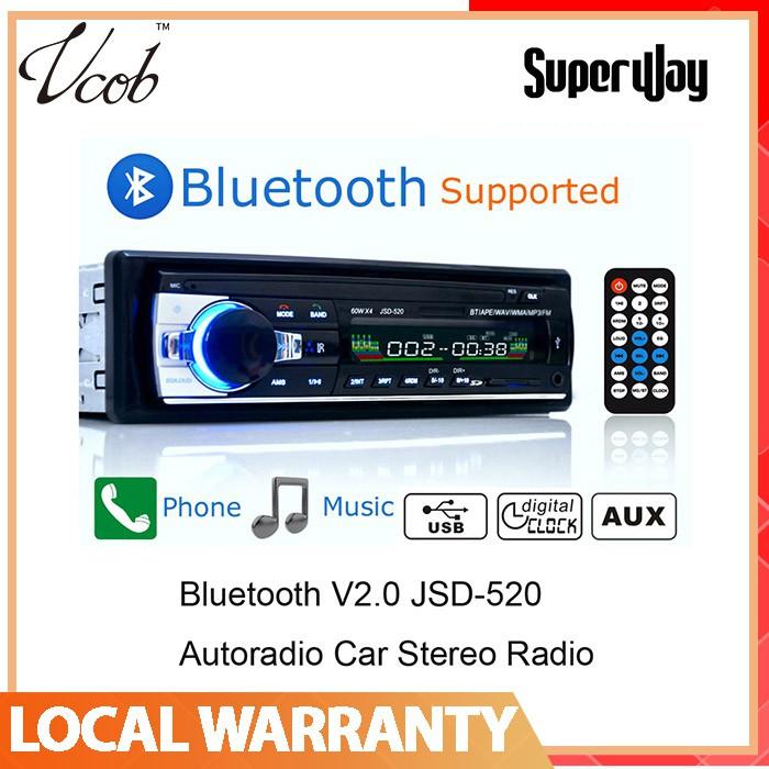 🔥HOT🔥Bluetooth Stereo Car Radio FM Aux Input Receiver SD USB MP3 Audio  Player
