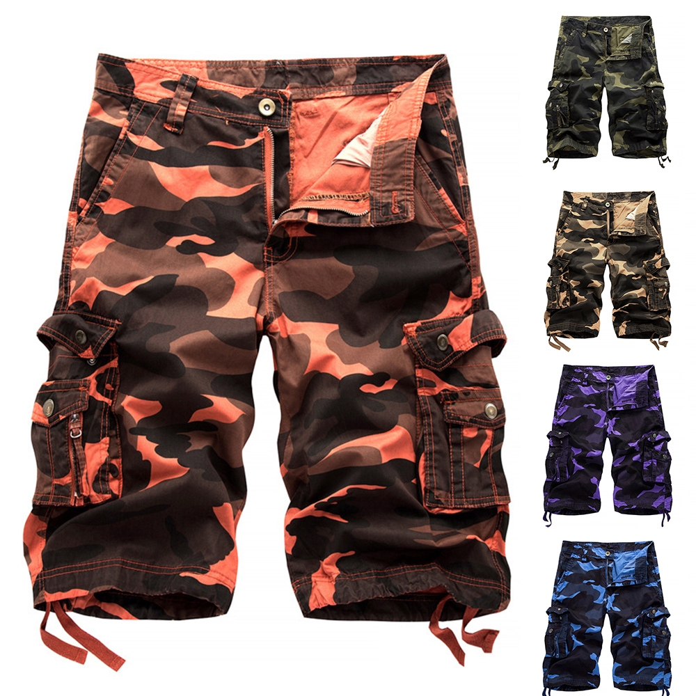 official images new season high quality materials New Mens Summer Military Army Fatigue Camo Cargo Shorts Camouflage Sports  Pants