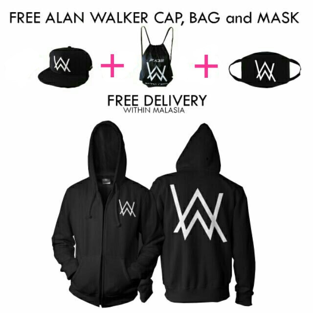 2018 New Alan Walker DJ Thicker round necklace sweater Faded jacket men hoodie   Shopee Malaysia