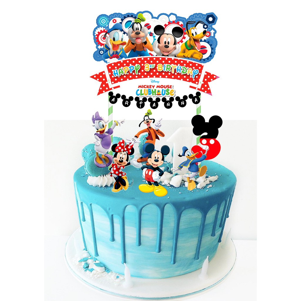 Outstanding Mickey Mouse Cake Topper Set Shopee Malaysia Birthday Cards Printable Trancafe Filternl