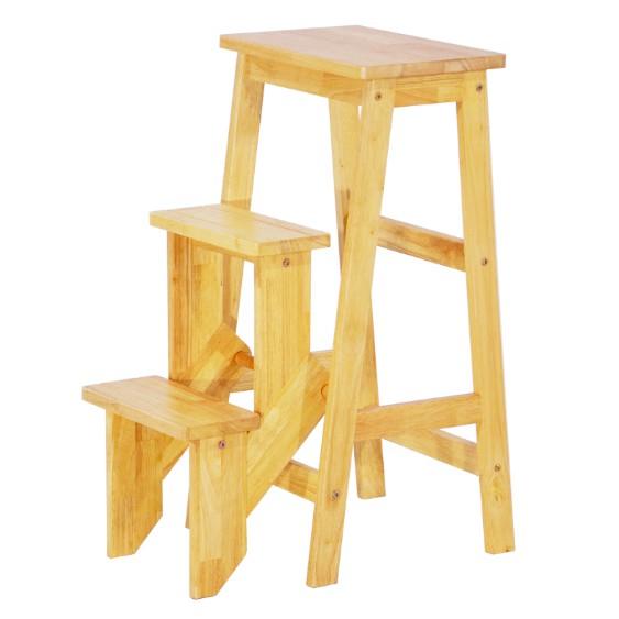 Awesome Ss001 Folding Wooden Step Stool Chair Stepladder Inzonedesignstudio Interior Chair Design Inzonedesignstudiocom