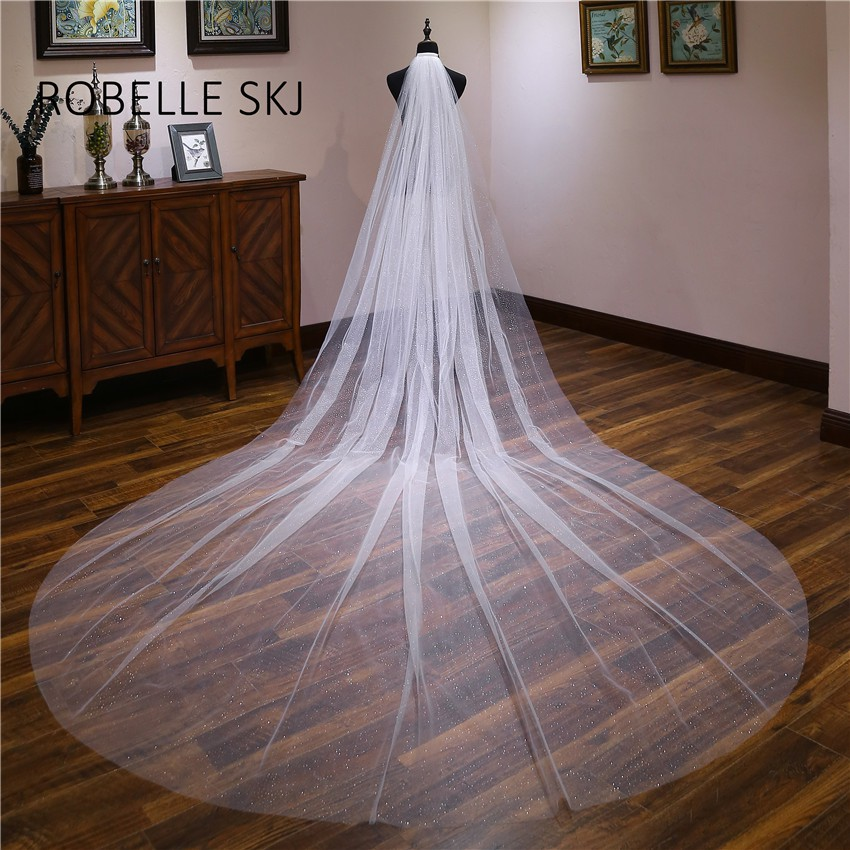 ROBELLE SKJ Elegant Short Ivory//Off white Bridal Veil for Wedding Dress New Style with Lace Pearls Hair Accessories