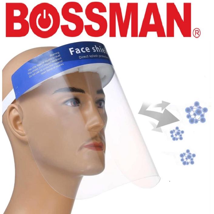 Bossman Plastic Face Shield Protective Mask Anti-fog Sneeze Headgear Masks Kitchen Splash Oil Baking Rainproof Foldable*