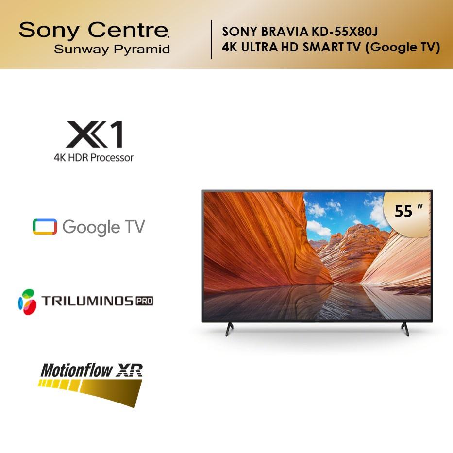 "SONY 55""  KD-55X80J   55X80J   X80J 4K Ultra HD   High Dynamic Range (HDR)   Smart TV (Google TV)"