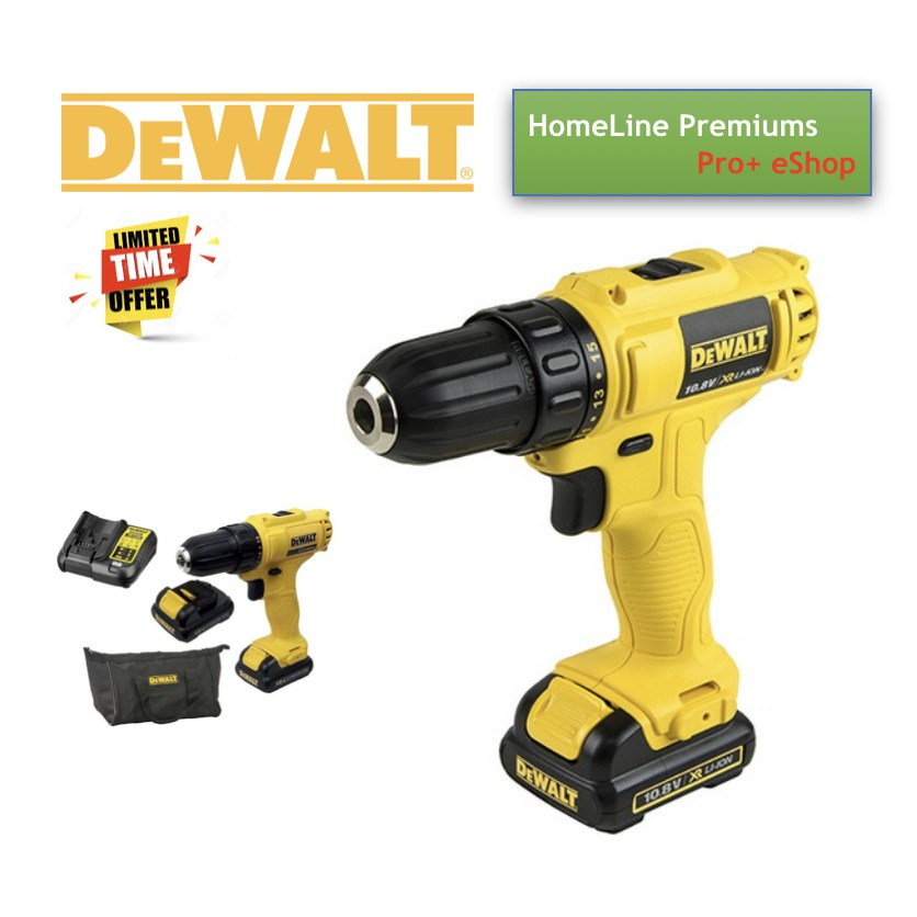 DEWALT DCD700C2 LITHIUM-ION CORDLESS DRILL/DRIVER 10MM 10 8V+2 BATTERY+1  CHARGER+BAG