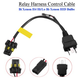 2PCS H4 HID Hi LoW Bi-Xenon Light Bulb Relay Harness Wiring ... Hid Wiring Harness Controller on