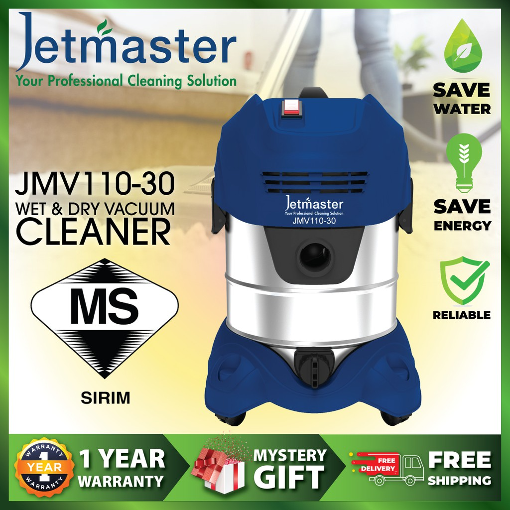 Jetmaster JMV 110-30 WET & DRY VACUUM CLEANER 【FREE GIFT + FREE DELIVERY】